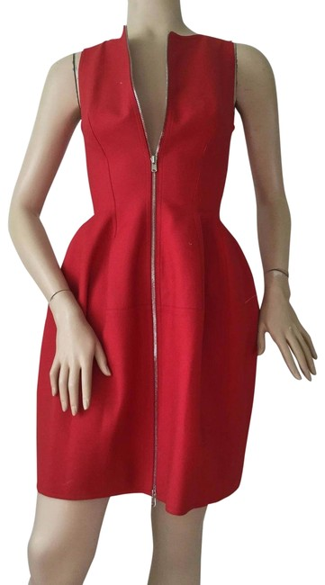 Preload https://img-static.tradesy.com/item/23058469/alaia-red-zip-front-structured-short-cocktail-dress-size-4-s-0-1-650-650.jpg