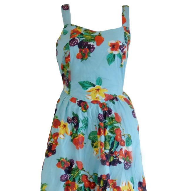 Joe Browns short dress Blue Floral Sweetheart Tropical Fruit Flowers on Tradesy Image 1