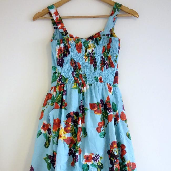 Joe Browns short dress Blue Floral Sweetheart Tropical Fruit Flowers on Tradesy Image 4