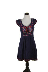 Anthropologie short dress Blue with Red Summer Summer on Tradesy