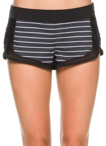 Rip Curl Stripes Striped Coverup Board Shorts Black and White