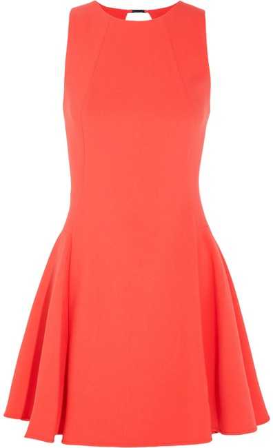 Item - Orange Flared Cutout Crepe Mini Short Cocktail Dress Size 8 (M)