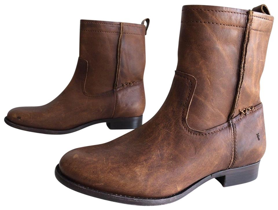 086a96a69ea Frye Cognac Cara Short Leather Ankle Boots/Booties Size US 10 Regular (M,  B) 63% off retail