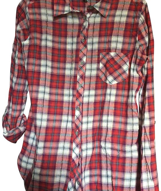 Preload https://img-static.tradesy.com/item/23058721/c-and-c-california-multicolor-plaid-with-metallic-thread-button-down-top-size-4-s-0-1-650-650.jpg