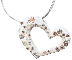 Swarovski Swarosvki Limited Edition Large Silver Multi Crystal Heart Necklace