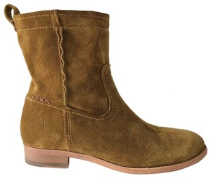 Frye Cara Suede Ankle Wheat Boots