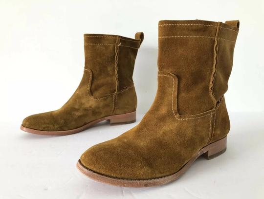Frye Cara Suede Ankle Wheat Boots Image 1