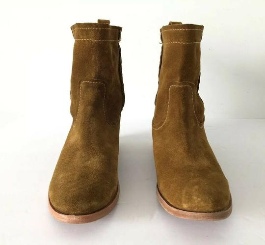 Frye Cara Suede Ankle Wheat Boots Image 2