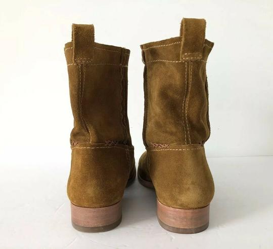 Frye Cara Suede Ankle Wheat Boots Image 3