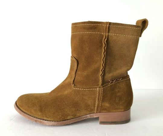 Frye Cara Suede Ankle Wheat Boots Image 6