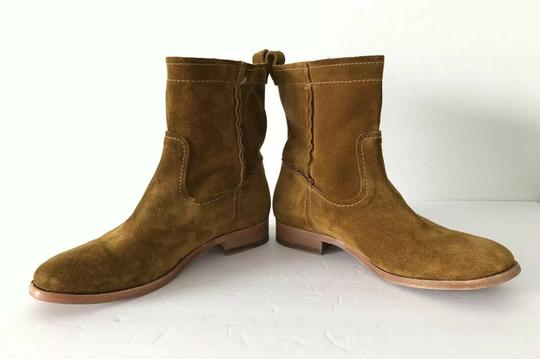 Frye Cara Suede Ankle Wheat Boots Image 7