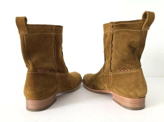 Frye Cara Suede Ankle Wheat Boots Image 8