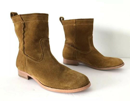 Frye Cara Suede Ankle Wheat Boots Image 9