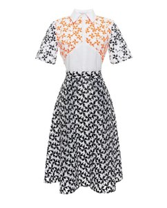 Tanya Taylor Spring Embroidered Chic Night Out Date Night Dress