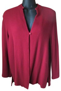 Eileen Fisher Burgundy Thermal Fall Winter Casual Top Red