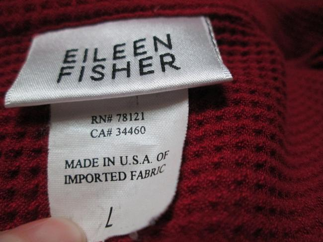 Eileen Fisher Burgundy Thermal Fall Winter Casual Top Red Image 1