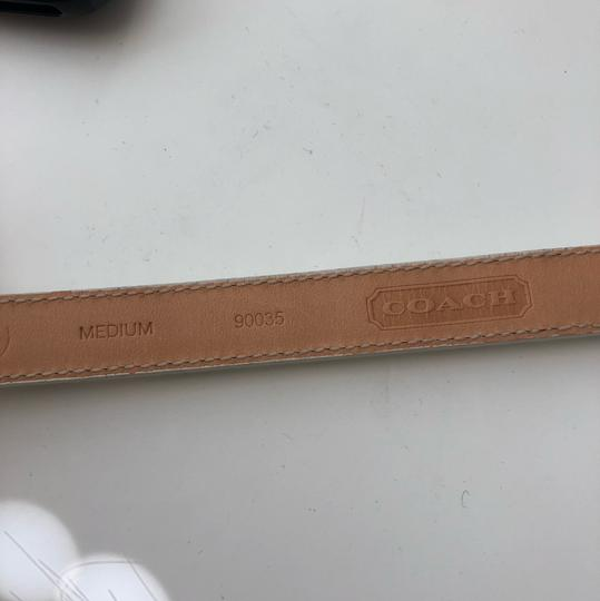 Coach White Patent Leather Belt with Gold Studs Image 3
