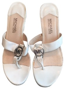 MICHAEL Michael Kors White Wedges
