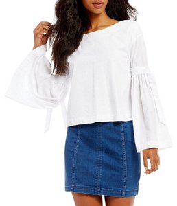 Free People Top New White