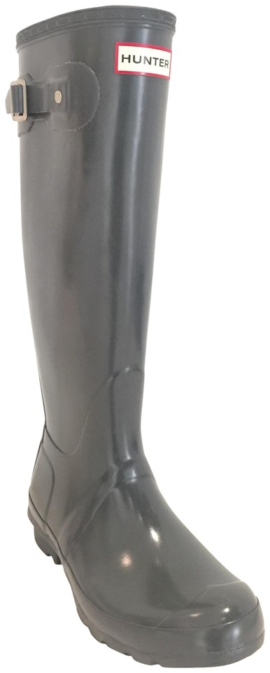 Hunter Gray Tall Graphite High Boots/Booties Gloss Boots/Booties High 7534f8