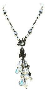 Kinley Skull Sterling Silver Front Toggle Kinley Necklace in Opalstone