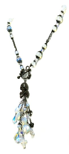 Kinley Skull Sterling Silver Front Toggle Kinley Necklace in Opalstone Image 2