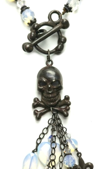 Kinley Skull Sterling Silver Front Toggle Kinley Necklace in Opalstone Image 6
