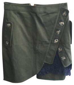self-portrait Mini Skirt army green