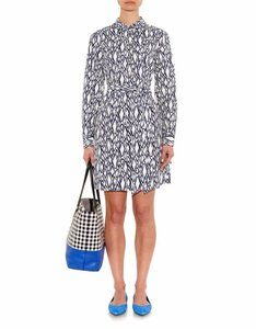 Diane von Furstenberg short dress White. Navy Blue Dvf Combo Bey Snake Date Night on Tradesy