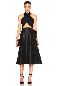 Tome A-line Flare Skirt Black