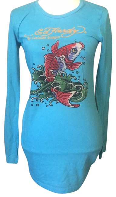 Preload https://img-static.tradesy.com/item/23059548/ed-hardy-blue-koi-long-sleeve-graphic-tee-shirt-size-8-m-0-1-650-650.jpg