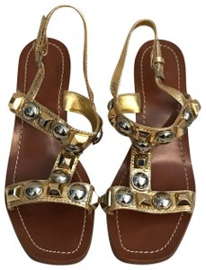 Tory Burch Gold & Silver Sandals