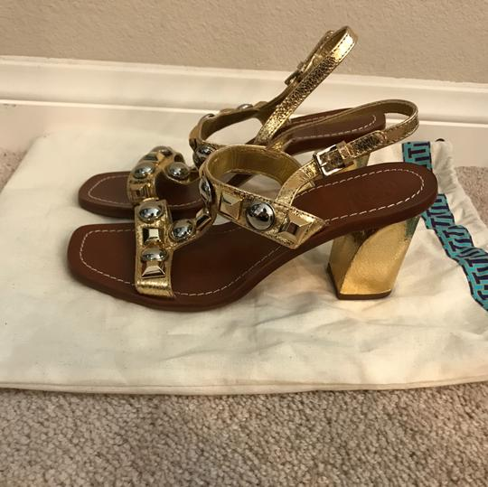 Tory Burch Gold & Silver Sandals Image 2