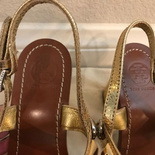 Tory Burch Gold & Silver Sandals Image 5