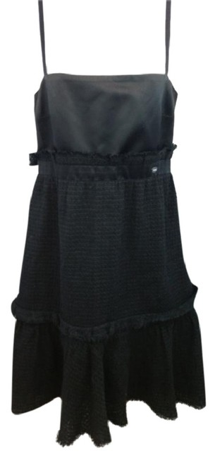 Preload https://img-static.tradesy.com/item/23059586/chanel-black-satin-and-tweed-40-mid-length-night-out-dress-size-6-s-0-0-650-650.jpg