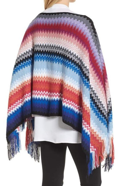 Missoni Made In Italy Comfy Wool Blend Soft + Breezy Vibrant Colors Swingy + Fun Cape Image 2
