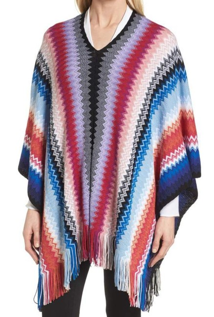 Missoni Made In Italy Comfy Wool Blend Soft + Breezy Vibrant Colors Swingy + Fun Cape Image 4