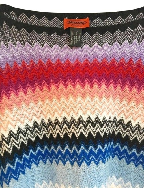 Missoni Made In Italy Comfy Wool Blend Soft + Breezy Vibrant Colors Swingy + Fun Cape Image 6