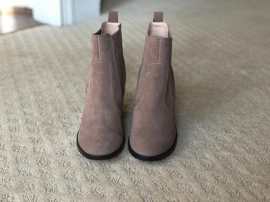 Sole Society New Suede Block Heel Brown taupe Boots Image 7