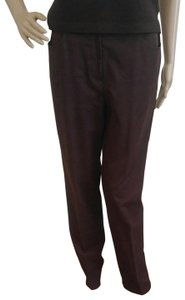 St. John Tapered Leg Relaxed Pants Brown