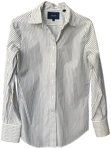 Façonnable Long Sleeve Tailored Women's Shirt Button Down Shirt white