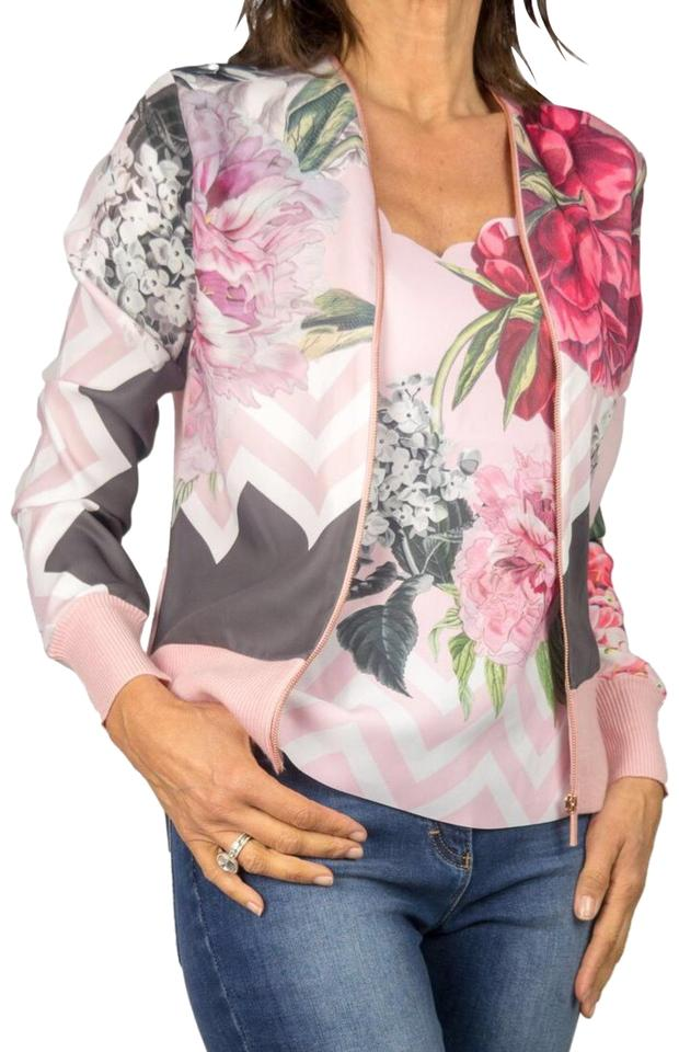 9692c5cce468 Ted Baker Dusky Pink Pakrom Palace Gardens Zipped Cardigan Size 6 (S ...
