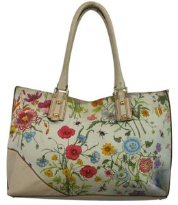 fd346c3af8f199 Gucci Leather Trim Floral Print Multicolor Canvas Tote - Tradesy