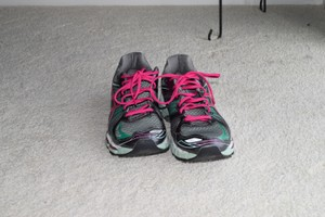 Asics Running Gray/Pink/Teal Athletic
