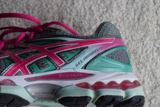 Asics Running Gray/Pink/Teal Athletic Image 2