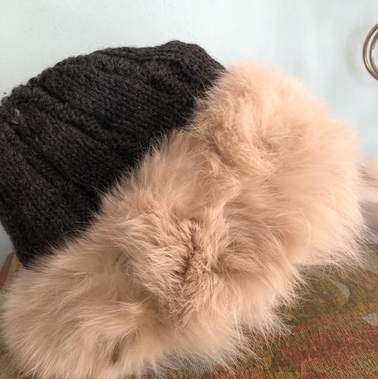 Genuine fur and knit hat! genuine fur fox Image 2