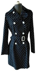 Max Mara Belted Spring Polka Dot Cotton Trench Coat