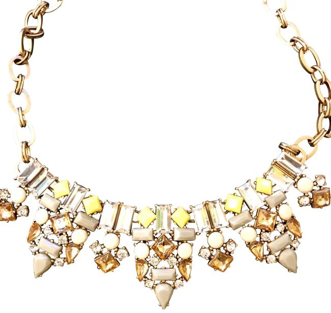 J.Crew Yellow White & Gold Statement Necklace J.Crew Yellow White & Gold Statement Necklace Image 1