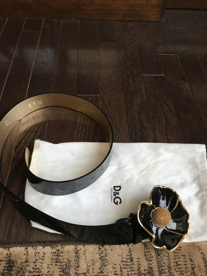 Dolce&Gabbana One of a kind- black genuine patent leather woman belt ! Image 4