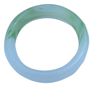 Vintage Light Green Jade Bangle Size 6